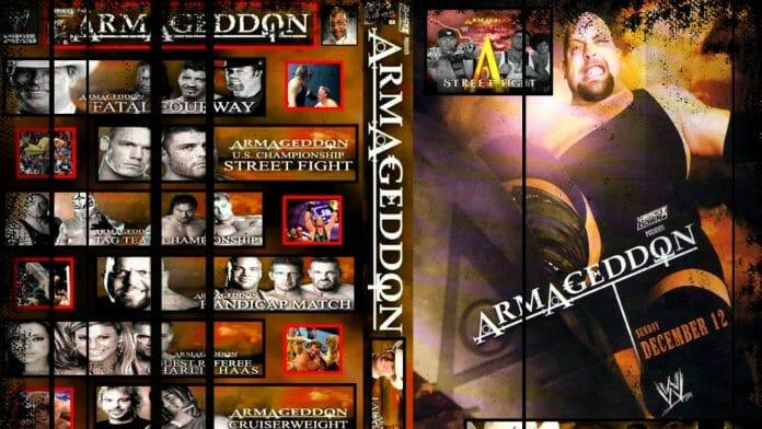 WWE Armageddon 2004 pay-per-view card.