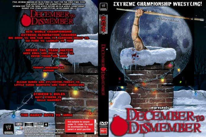WWE December to Dismember pay-per-view match card.