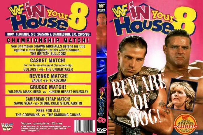 WWE In Your House 8: Beware of Dog pay-per-view poster.