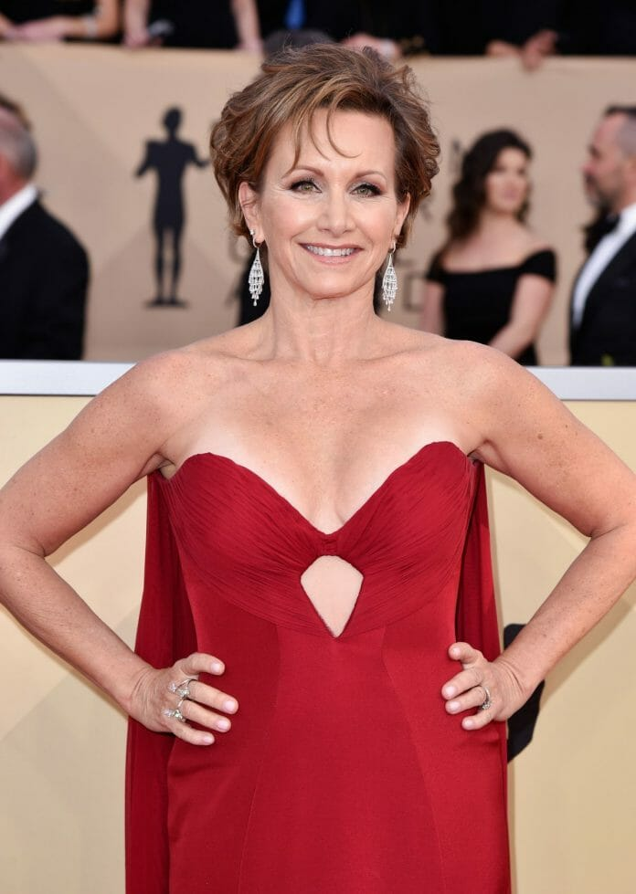 SAG-AFTRA President Gabrielle Carteris at the Screen Actors Guild Awards in 2018. She has recently spoken out about wanting to engage with members of the wrestling profession to help them find ways to protect themselves.