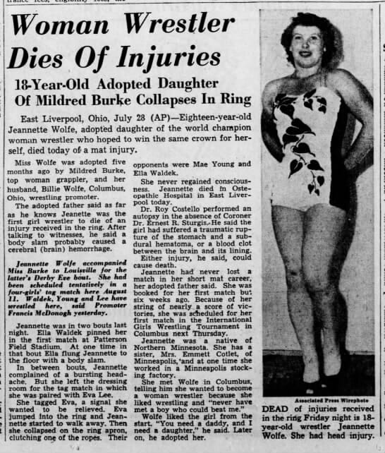 The short-lived career of Janet Boyer Doyle is a painful remembrance of how rough the pioneers of women's wrestling often worked in the ring.