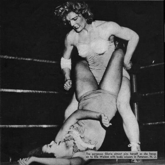 Ella Waldek's career changed forever after the death of Janet Boyer Wolfe, often wrestling to the chants of