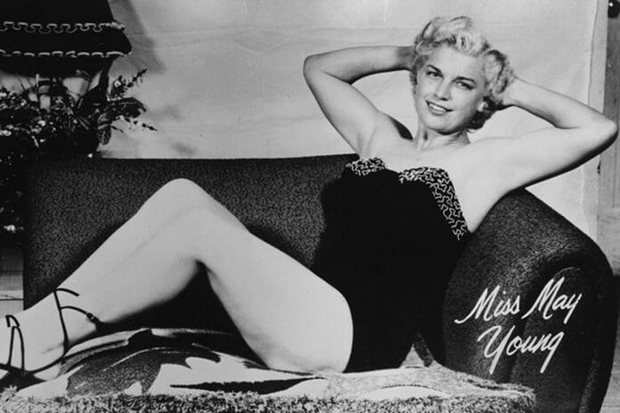 Johnnie Mae Young, showing her more feminine side in an early glamour shot.