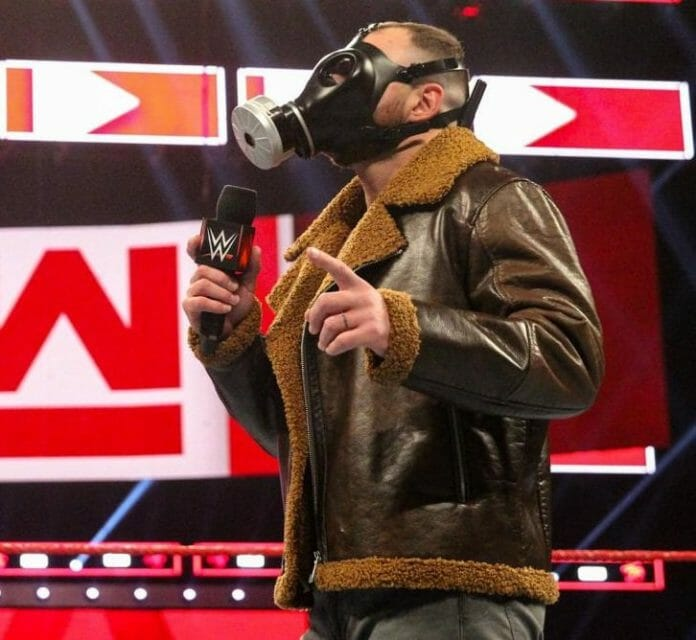 Gas Mask Dean Ambrose. An homage to Bane from Dark Knight Rises?
