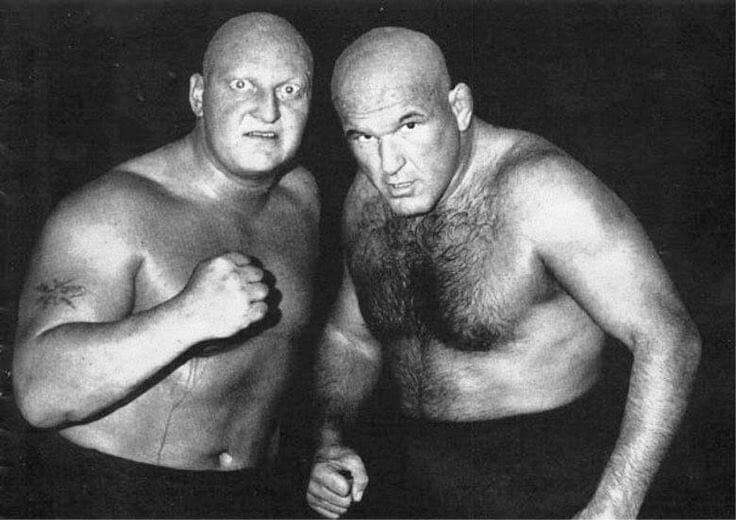 According to Larry Sharpe, Brute Bernard (right) seen here with Skull Murphy, had a particular interpretation of what it meant to cheat on his girlfriend.