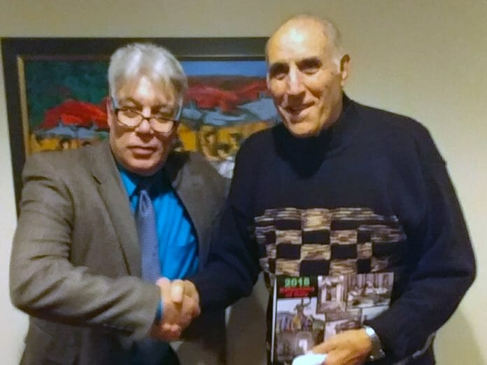 Dominic DeNucci and I at Rico's in Pittsburgh, Pennsylvania on December 16th, 2018.