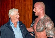 "Pat Patterson and Dwayne ""The Rock"" Johnson."