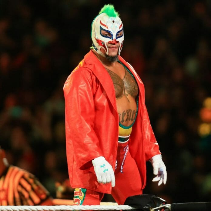 Rey Mysterio pays homage to Joaquin Phoenix's version of The Joker at Survivor Series 2019.