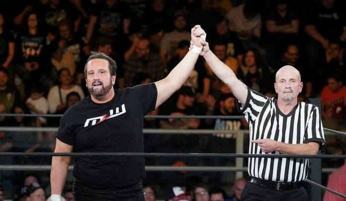 Tommy Dreamer and referee Doug Markham in MLW.