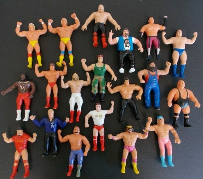 The WWF Wrestling Superstars Bendies was more in line with the initially intended scale for the 8-inch figures. These did have wire inside that improved their playability too.