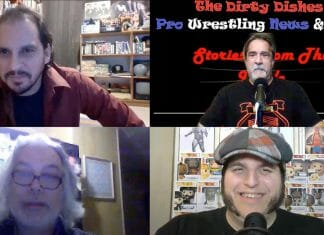 Pro Wrestling Stories authors Javier Ojst (top left) and Benny Scala (bottom left) joined Angelo Disipio (top right) and Dan Sebastiano (bottom right) on the most recent episode of Wrestling With The Future.