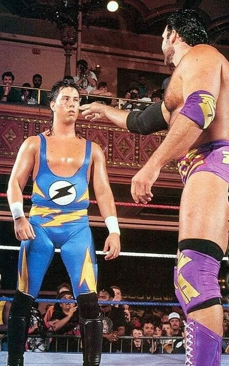 """""""The Kid"""" Sean Waltman faces off against Razor Ramon on May 17th, 1993's episode of Monday Night Raw."""