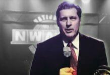 Then-president of the NWA, Bruce Tharpe.