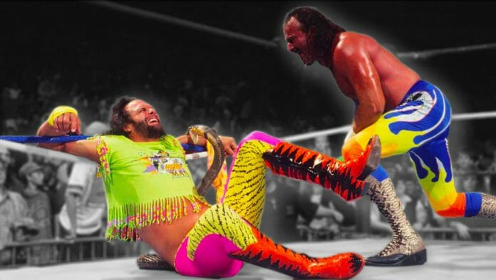The infamous snake bite angle between Randy Savage and Jake Roberts took place on October 21st, 1991, and aired a month later on WWF Superstars of Wrestling on November 23rd, 1991.