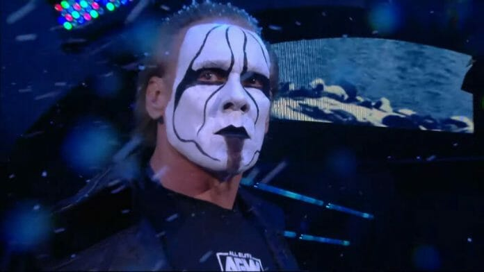 Sting during his AEW debut.