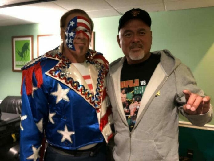 "Red, White, and Blue Sting with ""The Great Muta"" Keiji Muto."