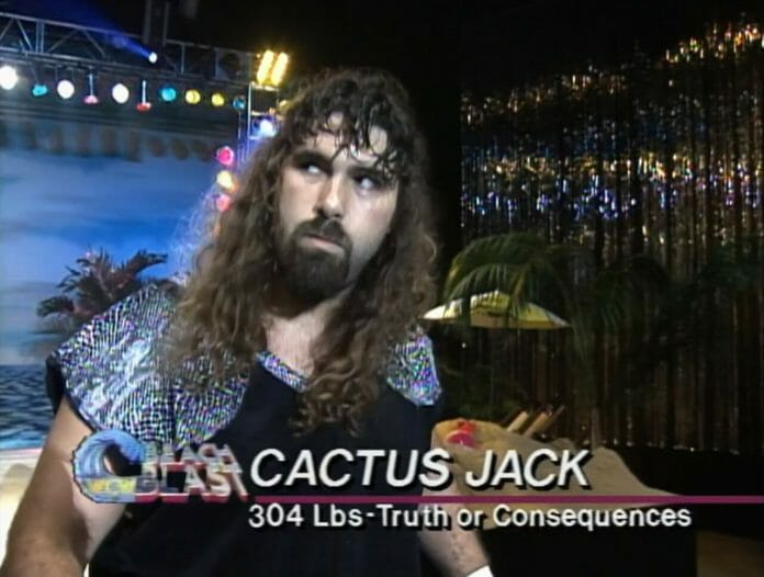 Mick Foley as Cactus Jack, WCW Beach Blast '93.