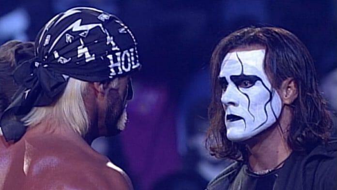 Hogan Hogan and Sting - The Mess at WCW Starrcade 1997