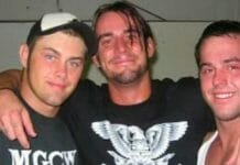 Jimmy Rave alongside CM Punk and Roderick Strong.