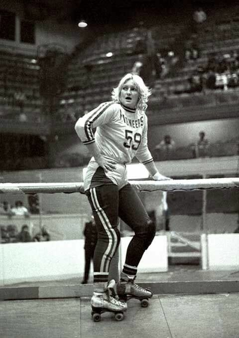 """The Blonde Bomber"" Joan Weston."