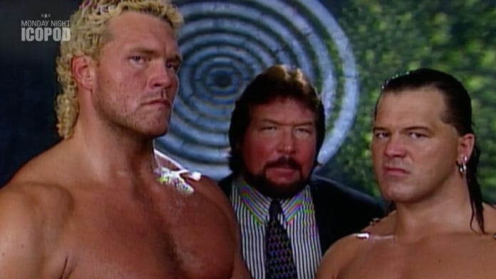 The Million Dollar Corporation (Sycho Sid, Tatanka, and the Million Dollar Man Ted DiBiase) at 1995's King Of The Ring pay-per-view.