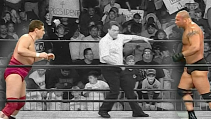 Things got stiff between Goldberg and William Regal (then known as Steve Regal) when they faced off against each other on WCW Monday Nitro on February 9th, 1998, at the Don Haskins Center in El Paso, Texas.