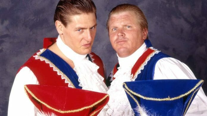 The Blue Bloods tag team in WCW: Lord Steven Regal and Earl Robert Eaton.