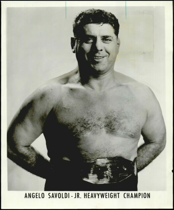 NWA Junior Heavyweight Champion Angelo Savoldi.