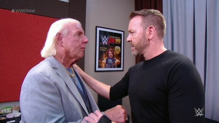 Ric Flair and Christian, the two men that WWE and TNA organized a swap-deal for.