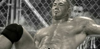 Dave Bautista after his steel cage match against Chris Jericho on RAW 800.
