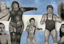 From The Tempest (top left), Gran Neffer (bottom left), La Satánica, Pepe El Bello (center), Sordomudo Cruz, La Momia Negra (top right), and Comanche Lima (bottom right), El Salvador is a country rich in wrestling past and present.