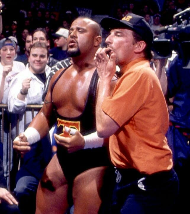 Tazz with his manager Bill Alfonso in ECW.