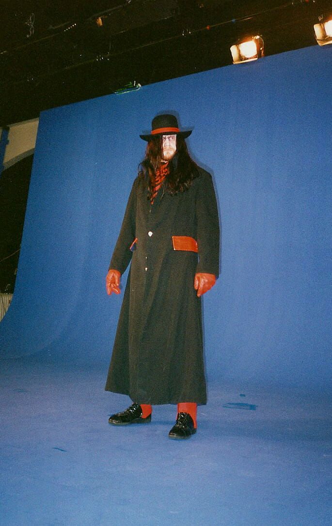 Undertaker had to wear a red variant of his attire for the capture to work better with the blues screen method utilized in the creation of WWF WrestleMania: The Arcade Game.