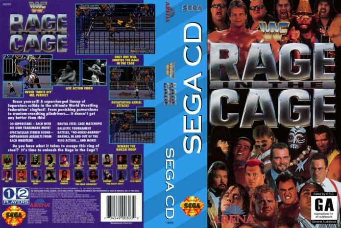 WWF Rage in a Cage on Sega CD (1993).