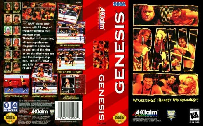 WWF Raw for the Sega Genesis / Mega Drive (1994).