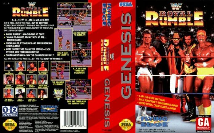 WWF Royal Rumble for the Sega Genesis / Mega Drive (1993).