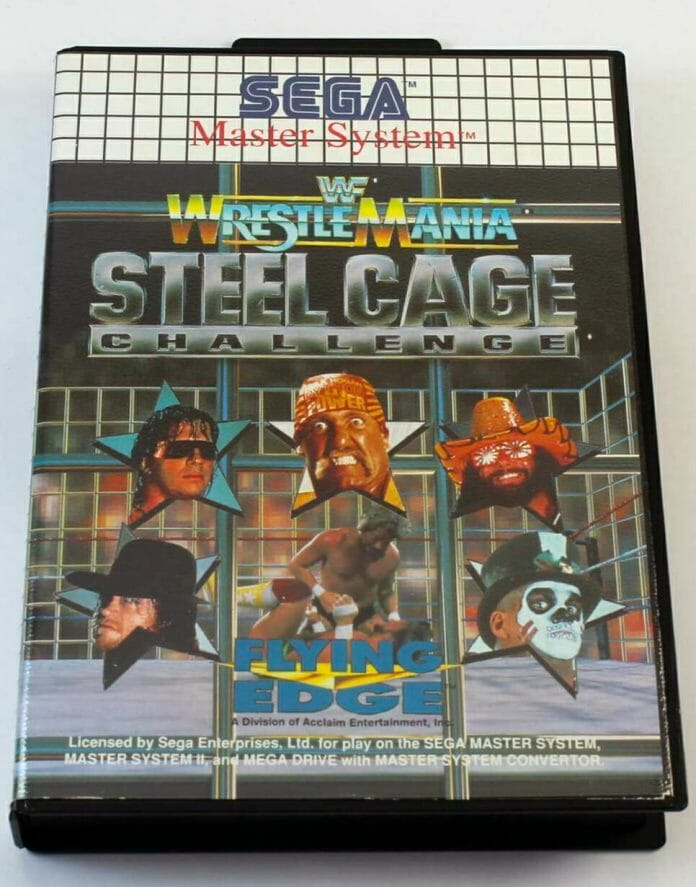 WWF WrestleMania Steel Cage Challenge for the Sega Master System.