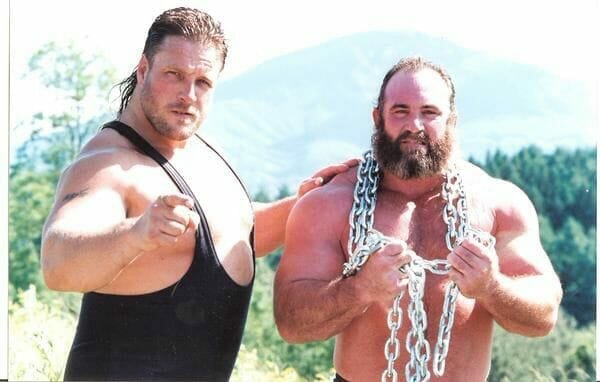 As one half of the Jurassic Powers, Scott Norton (left), seen here with Hercules Hernandez, got a scare in North Korea that he is still uncomfortable talking about.
