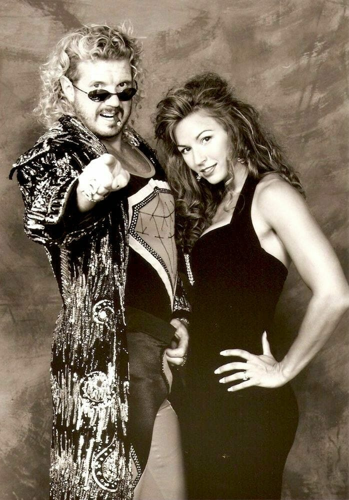 Diamond Dallas Page, pictured here with Diamond Doll Kimberly, brokered a meeting between Ray Lloyd and Eric Bischoff that got Lloyd hired by WCW.