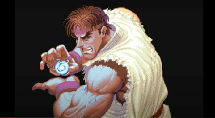 Ryu from the intro of Super Street Fighter 2.