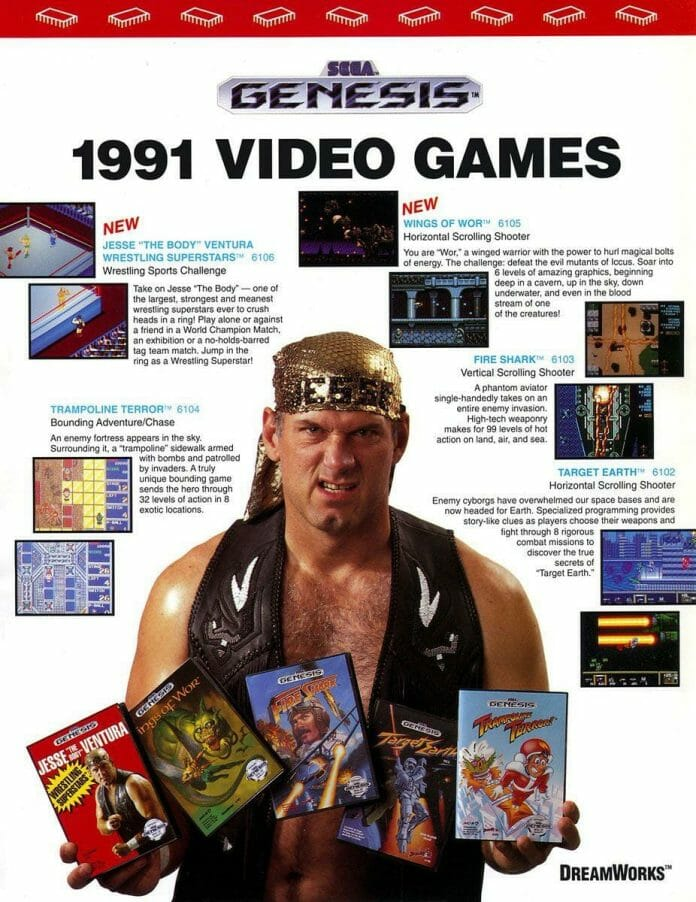 Thunder Pro Wrestling Retsude would be converted into the Jesse The Body Ventura's Wrestling Superstars video game on Sega Genesis for western audiences.