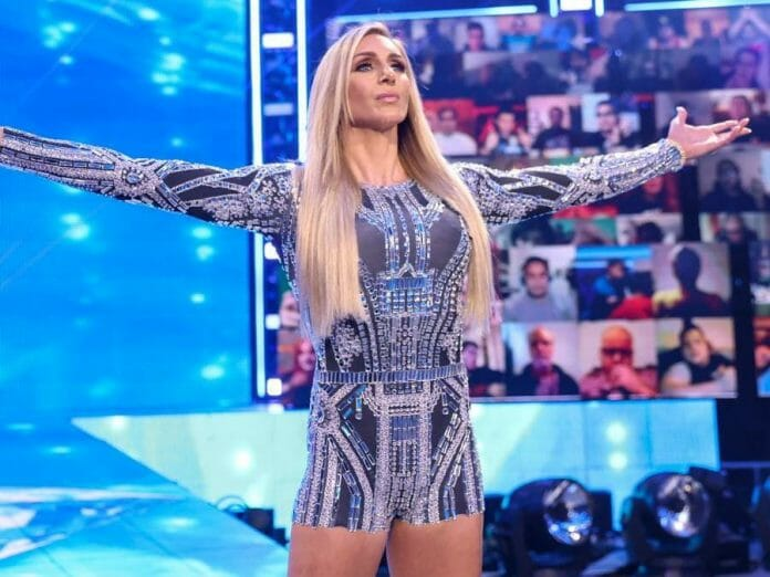 Charlotte Flair on the Raw after WrestleMania 37, April 12th, 2021.