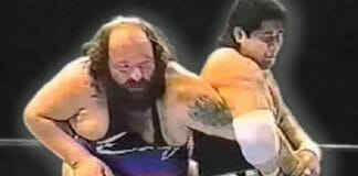 """When """"Earthquake"""" John Tenta faced off against Kōji Kitao on March 30th, 1991, things turned real!"""