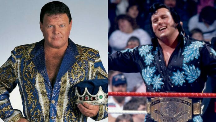 """Jerry """"The King"""" Lawler and the Honky Tonk Man."""