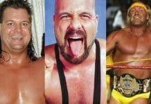 Mike Awesome, Horace Hogan (Michael Bollea), and Hulk Hogan.