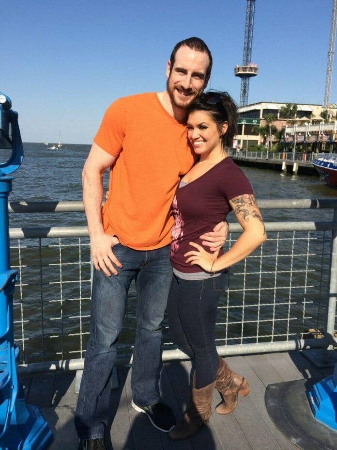 Shaul Guerrero with her husband Matt Rehwoldt (formerly known as Aiden English in WWE).