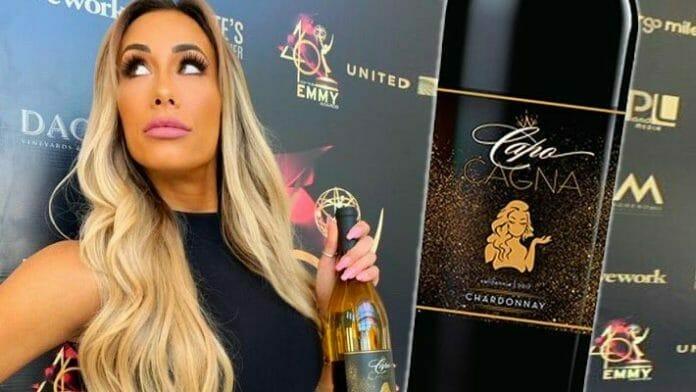 Carmella launched the Capo Cagna wine brand in 2019.