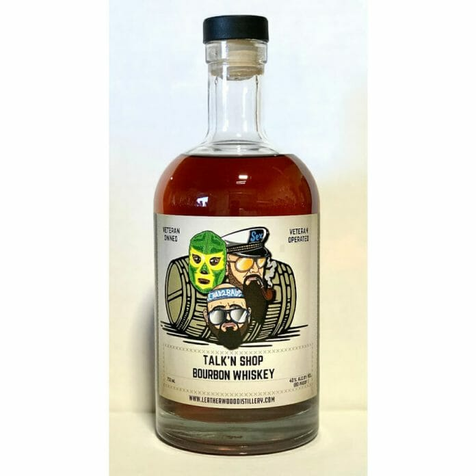 Doc Gallows and Karl Anderson of The Good Brothers' Talk'n Shop Bourbon Whiskey.