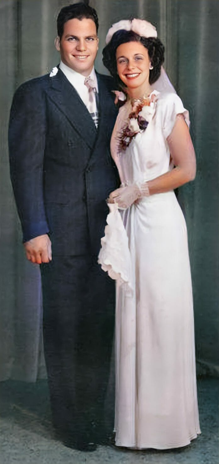 My parents Angelo and Judy Poffo on their wedding day.