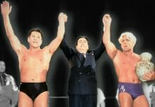 In 1994, amidst scandals alleging embezzlement and the Yakuza, Antonio Inoki looked to salvage his reputation and spot in politics. He saw an opportunity where most saw an isolationist, authoritarian dictatorship: North Korea. Boasting a crowd of over 360,000 fans across two days, Collision in Korea was the most prominent international event since the Korean War, and Inoki, Muhammed Ali, and Ric Flair would soon become unlikely ambassadors in a bizarre political game.